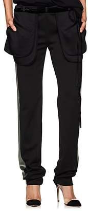 Valentino Women's Satin- & Velvet-Trimmed Cargo Pants