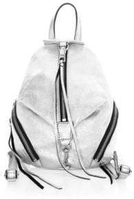 Rebecca Minkoff Mini Julian Metallic Leather Backpack