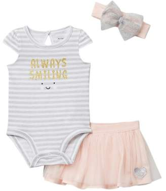 Petit Lem PL Baby by Bodysuit, Tutu & Headband 3-Piece Set (Baby Girls)