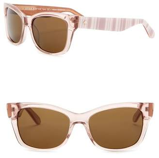 Kate Spade Alora 53mm Cat Eye Sunglasses