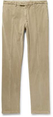 Boglioli Beige Slim-Fit Stretch-Cotton Corduroy Suit Trousers