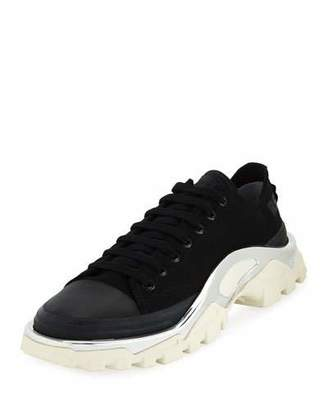 Adidas By Raf Simons Men's Detroit Runner Canvas Sneakers, Black