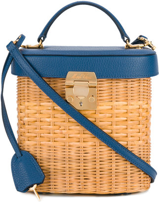 Mark Cross Benchley Rattan tote $2,497 thestylecure.com