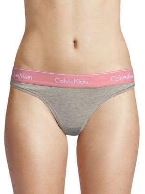 Calvin Klein Logo Heathered Thong