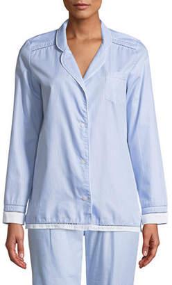 Lejaby Maison Pyjama Ladder-Stitched Long-Sleeve Shirt