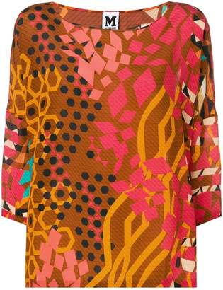 M Missoni graphic print blouse