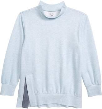 Zella Split Knit Tunic Top