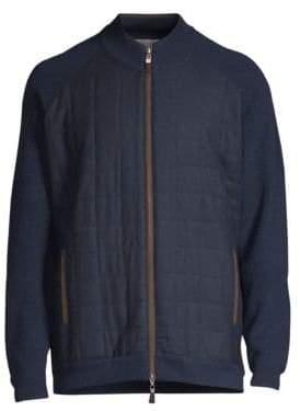Peter Millar Quilted Zip-Front Sweater
