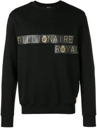 Billionaire crew neck logo sweatshirt