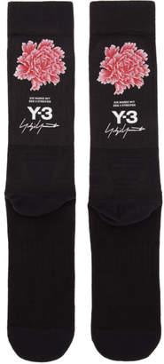 Y-3 Black James Harden Graphic Logo Socks