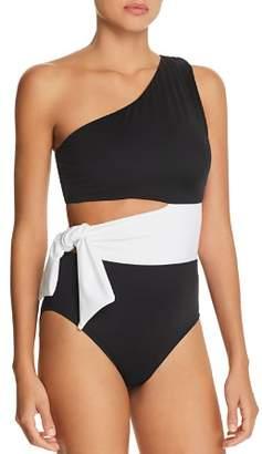 Ralph Lauren Bel Aire Cutout One-Shoulder One Piece Swimsuit