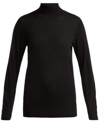 Burberry Kaipo High Neck Cashmere Sweater - Womens - Black