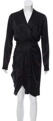 Hellessy Draped Satin Dress