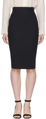 Alexander McQueen Black High-Waisted Pencil Skirt