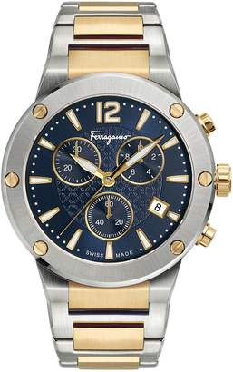 Salvatore Ferragamo F-80 Chronograph Bracelet Watch, 44mm