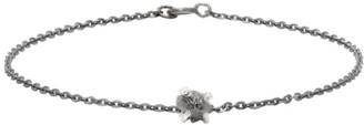 Pearls Before Swine Gunmetal Raw Diamond Bracelet