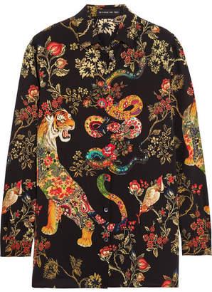 Etro - Printed Silk-crepe Shirt - Black $840 thestylecure.com
