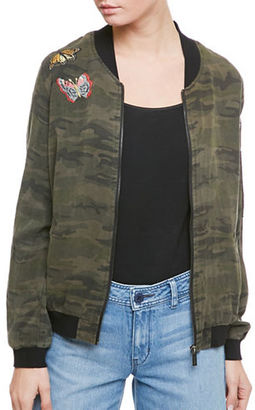 Sanctuary Embroidered Camo Bomber Jacket $149 thestylecure.com