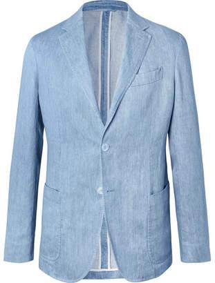 529d61a48 Ermenegildo Zegna Light-Blue Unstructured Linen Blazer