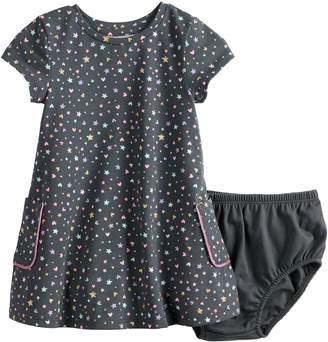 Baby Girl Jumping Beans Short-Sleeve Pocket Dress
