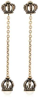 Alcozer & J Crown Pearl Long Earrings
