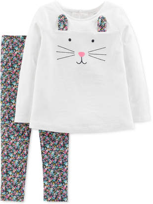 Carter's Baby Girls 2-Pc. Happy Bunny Outfit Set