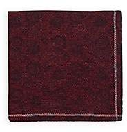 Fairfax Men's Reversible Wool Pocket Square-Red