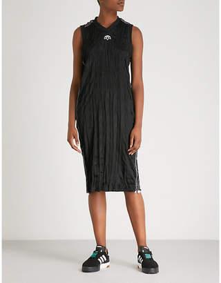 Alexander Wang Adidas X Logo-embroidered crinkled midi dress