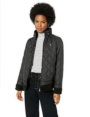 U.S. Polo Assn. Women's Quilted Moto Puffer Jacket