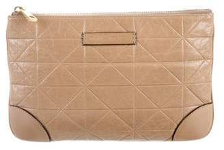 Marc Jacobs Embossed Leather Clutch