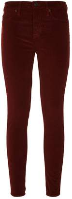 Hudson Nico Super Skinny Ankle-Grazer Velvet Jeans