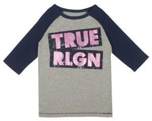 True Religion Toddler's, Little Girl's & Girl's Long Sleeve Logo Tee $45 thestylecure.com