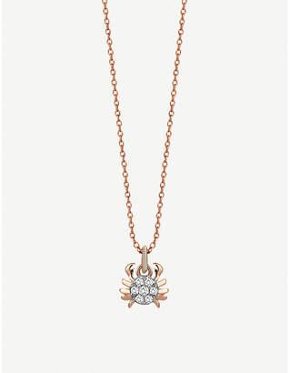 Rosegold The Alkemistry Kismet By Milka 14ct rose-gold Cancer necklace