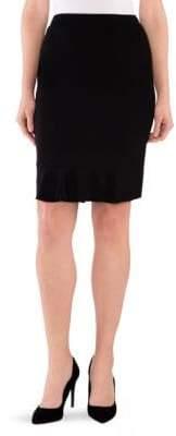 Stizzoli, Plus Size Ruffle-Hem Pencil Skirt