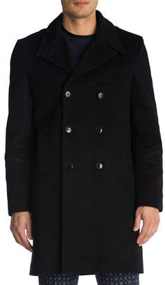 The Kooples Wool-Cashmere-Blend Peacoat