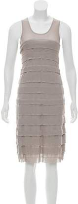 Apostrophe Tiered Shift Dress