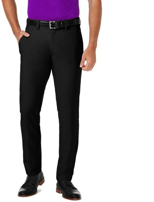 Haggar Men's Cool 18 PRO Slim-Fit Wrinkle-Free Flat-Front Super Flex Waist Pants