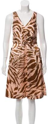 Marc by Marc Jacobs Silk Animal Print Dress