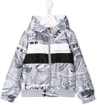 John Galliano printed raincoat
