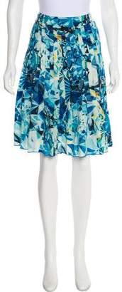 Magaschoni Pleated Silk Skirt