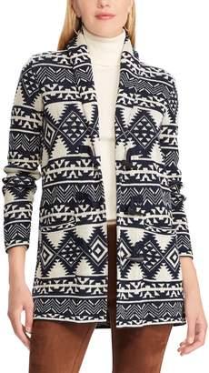 Chaps Women's Southwestern Print Toggle Sweater Jacket