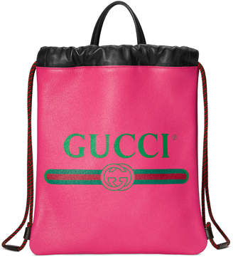 Gucci Print small drawstring backpack