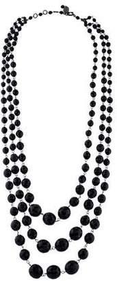 Miu Miu Crystal Multistrand Necklace
