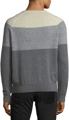Neiman Marcus Men's Cashmere Colorblock Crewneck Sweater
