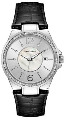Kenneth Cole Ladies Leather-Strap Analog Watch $115 thestylecure.com