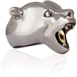Ring Black Strange Fruit - Bear Rhodium