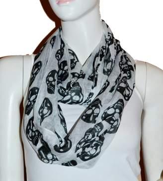 Scarf_tradinginc Fashion Light Weight All Season Skull Printed Infinity Scarf