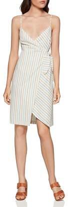 BCBGeneration Striped Wrap Dress