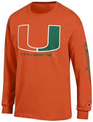 d86d50b8 Champion Men Miami Hurricanes Co-Branded Long Sleeve T-Shirt