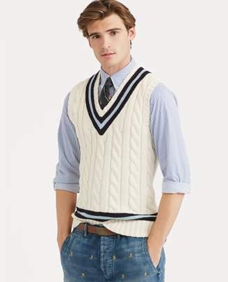 Ralph Lauren Cotton Cricket Sweater Vest